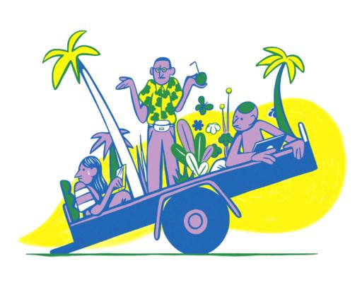 Patrik Mollwing Art & Illustration Bloomberg Businessweek | Stranded Overseas