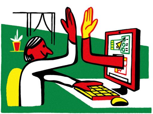 Patrik Mollwing Art & Illustration Bloomberg Businessweek | Remote Work